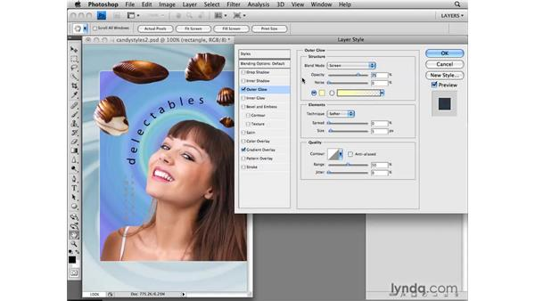 Customizing a layer style: Photoshop CS4: Layers in Depth