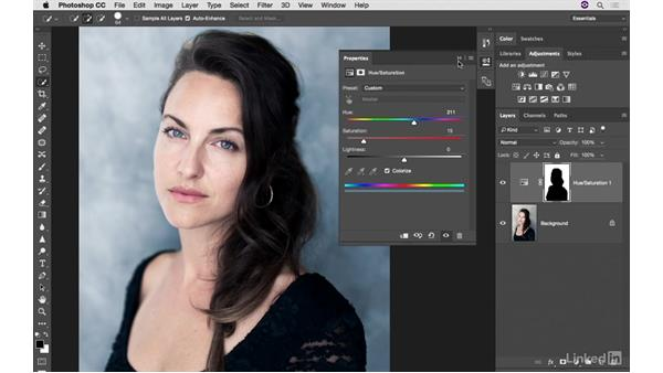 Customizing background color: Photoshop CC: Creative Color for Photographers