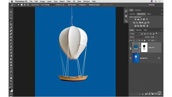 Adding a new background color: Photoshop CC: Creative Color for Photographers