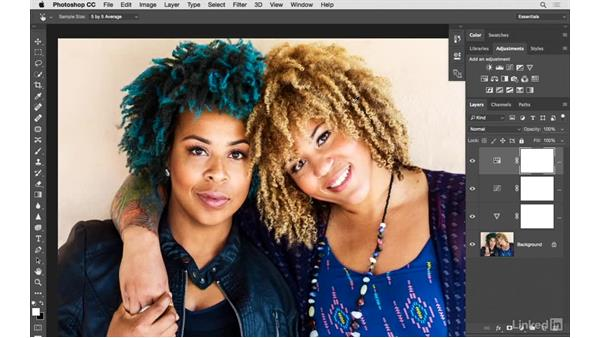 Using multiple adjustment layers for better color: Photoshop CC: Creative Color for Photographers