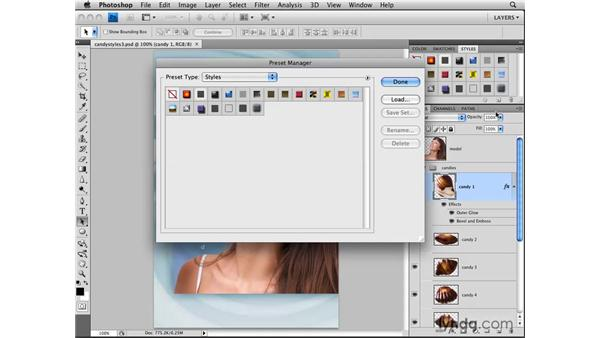 Saving a layer style: Photoshop CS4: Layers in Depth