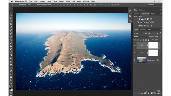Solution: Improving an aerial photograph: Photoshop CC: Creative Color for Photographers