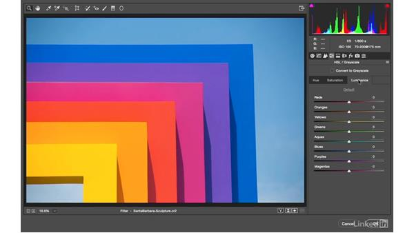 Learning how to change color with Camera Raw: Photoshop CC: Creative Color for Photographers