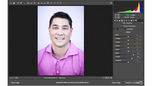 Changing the color of a shirt: Photoshop CC: Creative Color for Photographers