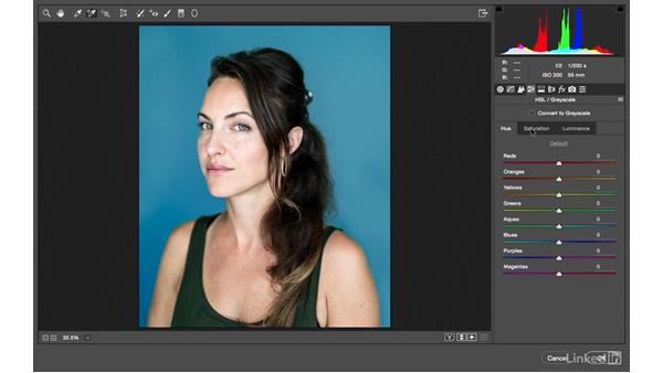 Using a two-step Camera Raw approach to create a color look: Photoshop CC: Creative Color for Photographers