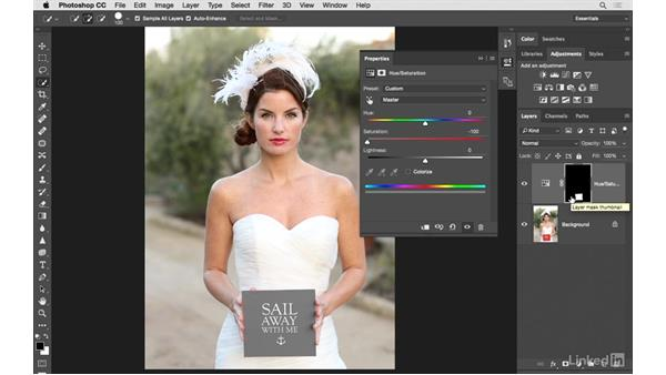 Removing color with Quick Select and masking: Photoshop CC: Creative Color for Photographers
