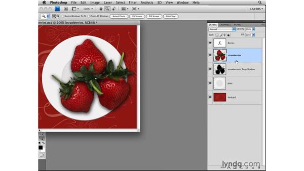 Rasterizing layer effects: Photoshop CS4: Layers in Depth