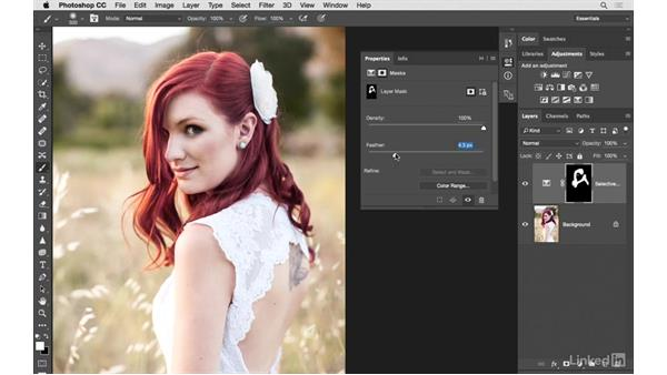 Fine-tuning hair color: Photoshop CC: Creative Color for Photographers