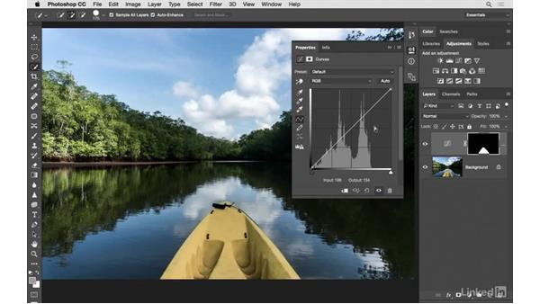 Fine tuning the color of a kayak: Photoshop CC: Creative Color for Photographers