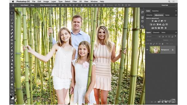 Challenge: Fixing a family portrait: Photoshop CC: Creative Color for Photographers