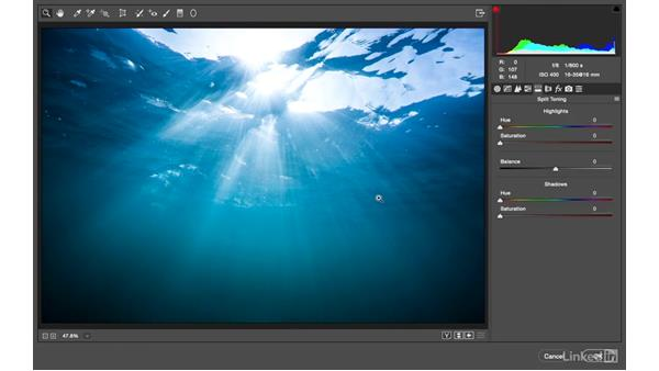Crafting a blue underwater look: Photoshop CC: Creative Color for Photographers