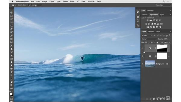 Adding cinematic style to an ocean scene: Photoshop CC: Creative Color for Photographers