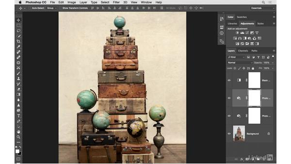 Creating a vintage look: Photoshop CC: Creative Color for Photographers