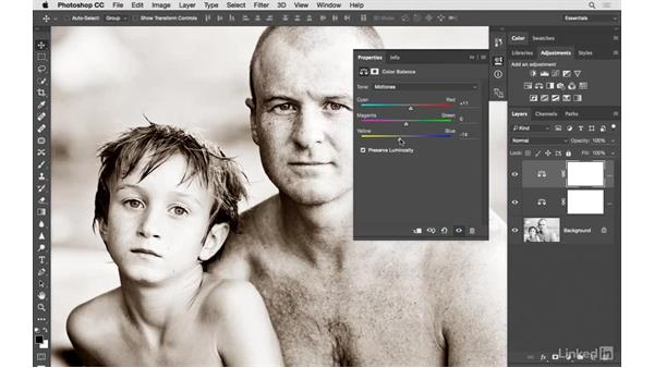 Creating a classic sepia-toned image: Photoshop CC: Creative Color for Photographers