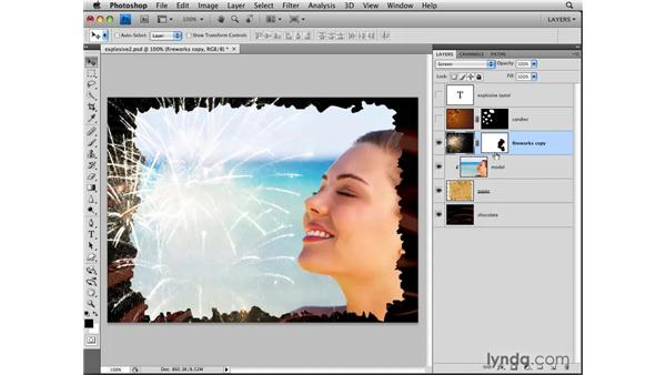 Clipping multiple layers: Photoshop CS4: Layers in Depth