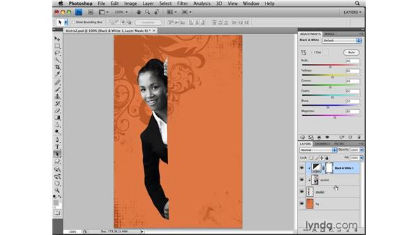Clipping layers to limit adjustments: Photoshop CS4: Layers in Depth