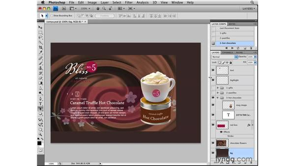 Understanding layer comps: Photoshop CS4: Layers in Depth