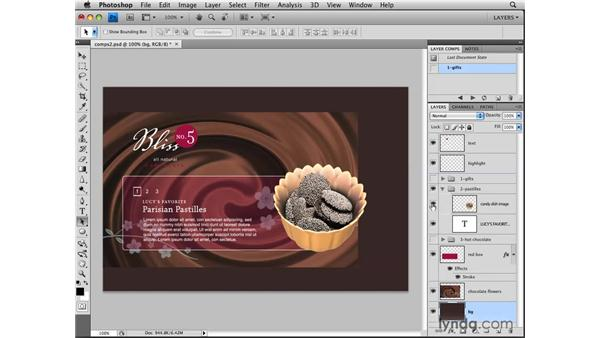 Creating layer comps: Photoshop CS4: Layers in Depth