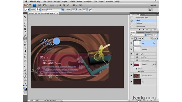 Editing layer comps: Photoshop CS4: Layers in Depth