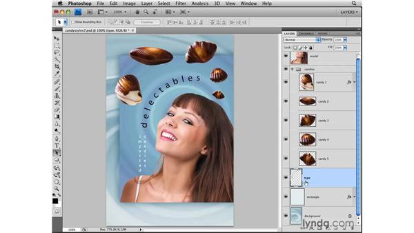 Merging and flattening layers: Photoshop CS4: Layers in Depth