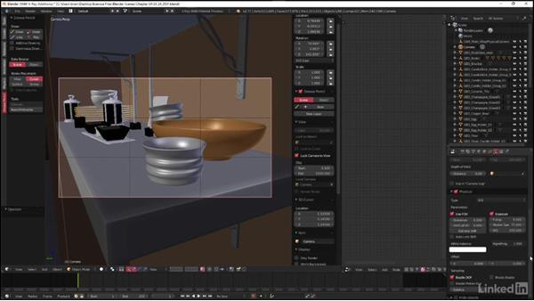 Setting up a depth of field effect: Blender: V-Ray 3.0 Basics