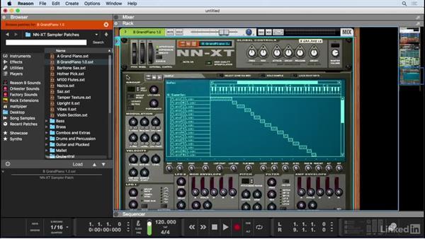 Record virtual instrument tracks: Learn Reason 9: The Basics