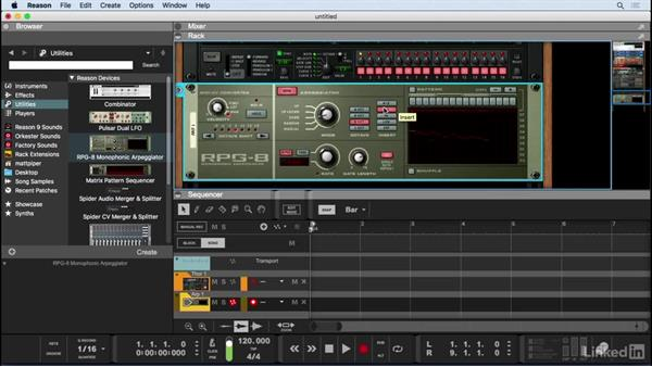 Create synth lines with the RPG-8 Monophonic Arpeggiator: Learn Reason 9: The Basics