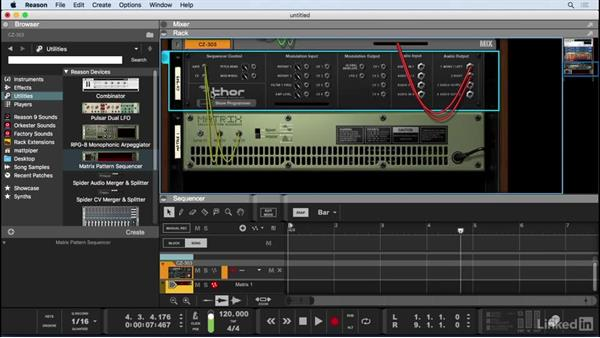 Create step-sequenced synth parts: Learn Reason 9: The Basics