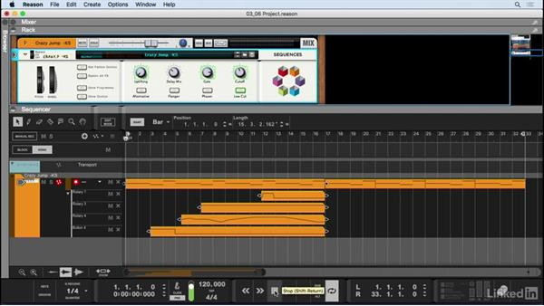 Record automation of synth parameters: Learn Reason 9: The Basics
