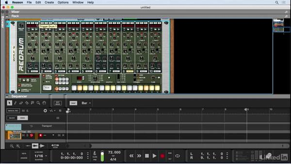 Step-program drum beats with Redrum: Learn Reason 9: The Basics