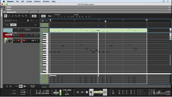 Draw drum beats in the sequencer: Learn Reason 9: The Basics