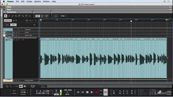 Audio Slice editor: Learn Reason 9: The Basics