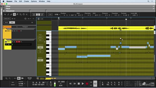 Vocal Pitch editor: Learn Reason 9: The Basics