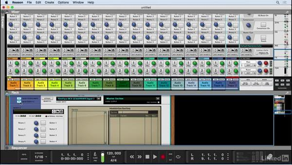 Mixer overview: Learn Reason 9: The Basics