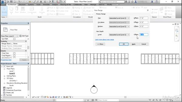 How does view range affect stairs?: Revit: View Range