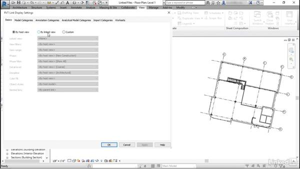 Adjusting the view range of linked files: Revit: View Range