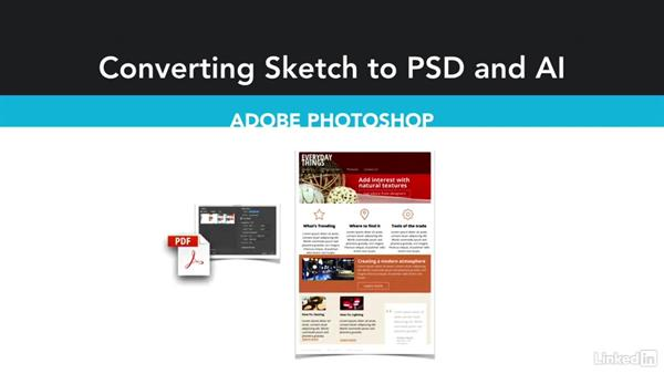 Options for exporting to Adobe Photoshop and Illustrator: Sketch For UX Design Teams