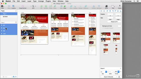 Exporting artboards to JPG or PNG files: Sketch For UX Design Teams