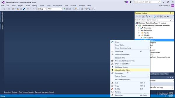 Option settings for solo developers: Visual Studio 2015 Essentials 10: Protecting Your Code Base with Source Control Providers