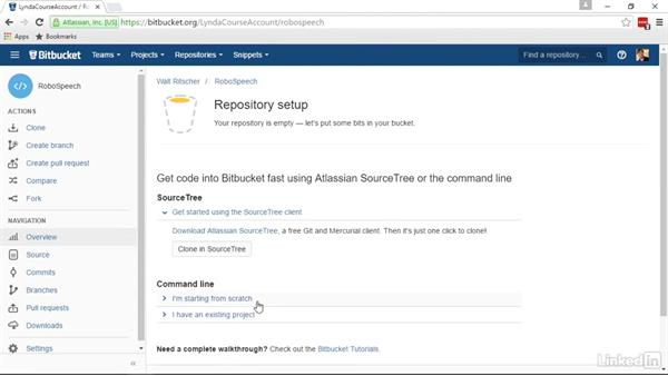 Publish repo to BitBucket: Visual Studio 2015 Essentials 10: Protecting Your Code Base with Source Control Providers