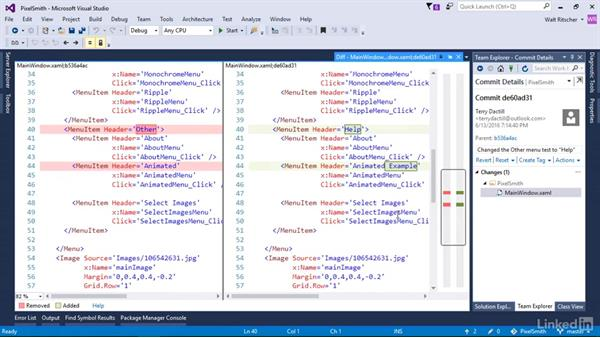 Sync changes to remote with push, pull, and fetch: Visual Studio 2015 Essentials 10: Protecting Your Code Base with Source Control Providers