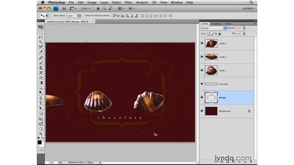 Aligning to a selection: Photoshop CS4: Layers in Depth