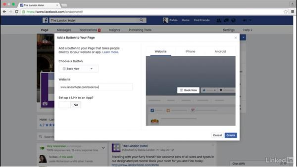 Add a call to action to a Facebook page: Facebook for Business
