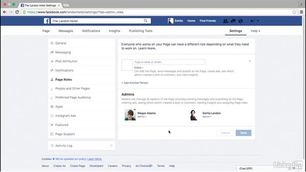 Modify Facebook page settings: Facebook for Business
