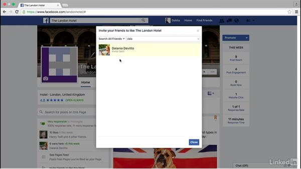 Invite friends to like your Facebook page: Facebook for Business