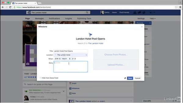 How to create a Facebook milestone: Facebook for Business