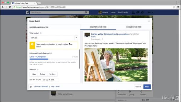 Create an event ad on Facebook: Facebook for Business
