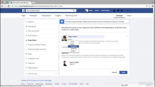Add page admins on Facebook: Facebook for Business