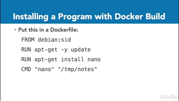 Building Dockerfiles: Docker: The Basics