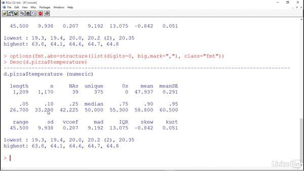 Basic descriptive statistics in DescTools: R for Excel Users